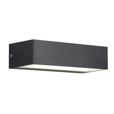 OUTDOOR 1 LIGHT LED WALL BRACKET (17CM), DARK GREY/OPAL
