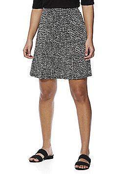F&F Monochrome Print Flippy Skirt - Black/White