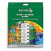 Reeves 24 Acrylic Tube Set - Arts and Crafts