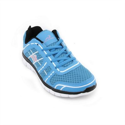 Woodworm Sports Fws Ladies Running Shoes / Trainers Sky/Pink Size 5.5