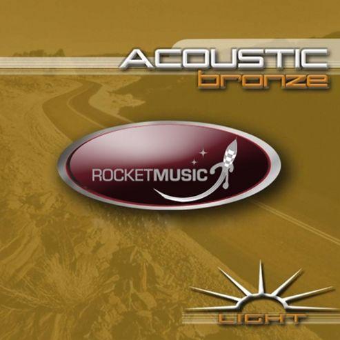 Rocket Bronze Light Acoustic Guitar String Set
