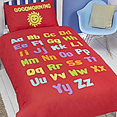 Rapport Bedtime Learning Duvet Cover Set - Small Single (Toddler)