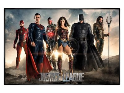 Justice League of America Gloss Black Framed Characters Poster 61 x 91.5cm