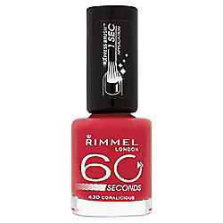 Rimmel 60 Secondnail Polish Coralicious