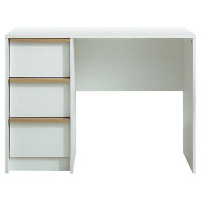 Trenton Computer Desk, White/Oak