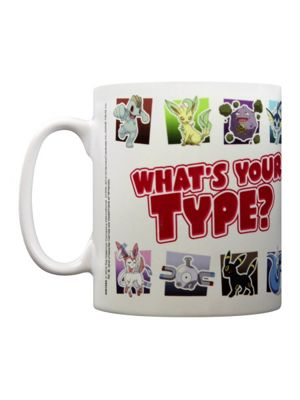 Pokemon My Type White PKMN 10oz Ceramic Mug