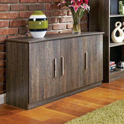 Welcome Furniture Living Room 3 Door Unit - Black Gloss