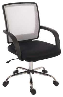 Teknik Star Mesh Black and White Office Chair