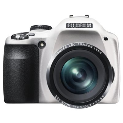 Fuji SL240 Digital Camera, White, 14MP, 24x Optical Zoom, 3.0