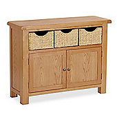 Zelah Oak Sideboard with Baskets