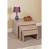 Nest of tables home furniture tesco direct tesco casa nest of tables sonoma oak watchthetrailerfo