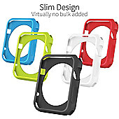 Orzly 5-in-1 FunColor Face Plates for APPLE WATCH (38 MM) - Pack of 5 changeable Covers