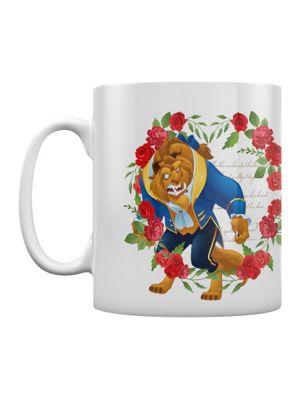 Beauty And The Beast Roses 10oz Ceramic Mug, White