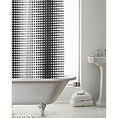 Modern Makeover Hookless Shower Curtain, Halftone Black & White