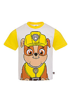 PAW Patrol Boys Kids Character T-Shirt Rocky Chase Rubble - Yellow