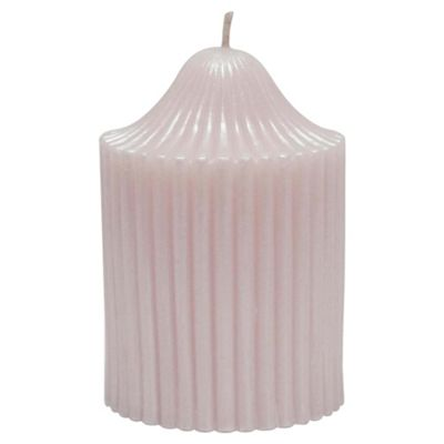 Ribbed Candle Pink Small