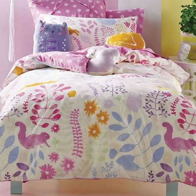 Friends Of The Forest Double Duvet and Cushion Cover, 100% Cotton