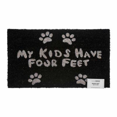 Homescapes Four Feet Paws Coir Doormat