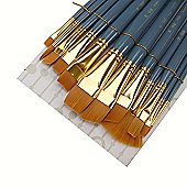 Royal Brush ZipLock Set - Medium Gold Taklon Round Variety