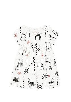 F&F Animal Motif Smock Dress - White Multi