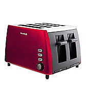 Breville VTT465 4-Slice Stainless Steel Toaster, Red