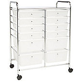 Aspen 12 Drawer Storage Trolley - White