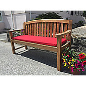 Three Seater Bench Cushion Cherry Red