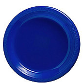 Blue Plastic Plates 22.8cm, Pack of 20