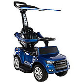 Ford Ranger Push Electric Ride On Car 6v Blue