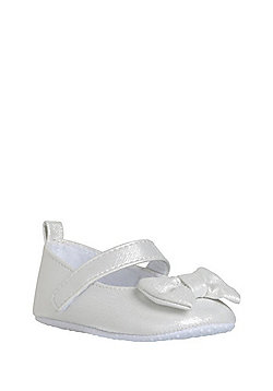 F&F Sparkle and Bow Detail Pumps - White