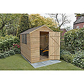 Forest Garden 8x6ft Overlap Pressure Treated Apex Shed