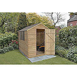 Forest Garden 8x6 Overlap Pressure Treated Apex Shed