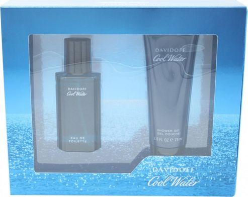 Davidoff Cool Water Gift Set 40ml EDT + 75ml Shower Gel For Men