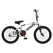 "Rooster Radical 18 BMX Bike White/Red with 18"" Spoke Wheels"