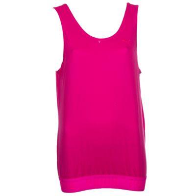 Puma Womens Rebel Run Running Fitness Training Shirt Top Jersey Pink - 14
