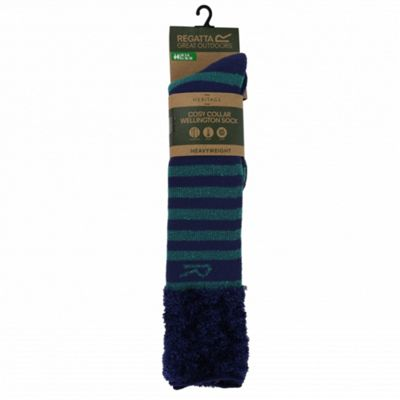 Regatta Fur Collar Sock GalaGrn/Navy 3-6