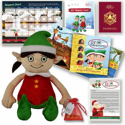 Elf Adventures - Girl Elf Early Years Story Book & Plush Toy Christmas Gift Set