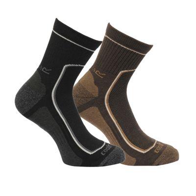 Regatta Mens 2 Pair Active Lifestyle Sock Black 6-8
