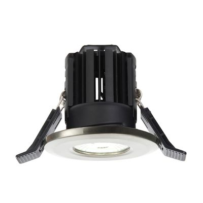 Shield LED 11W Natural White Recessed Satin Nickel Plate