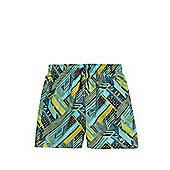 Speedo Geometric Wave Print Watershorts - Green & Multi