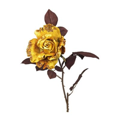 Mustard Single Stem Tea Rose