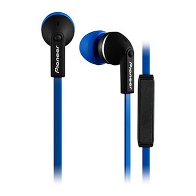 Pioneer SECL712 In-Ear Headphones with In-Line Microphone in Blue