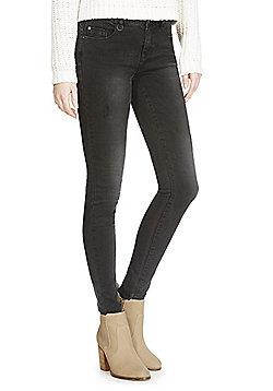 JDY Distressed Stretch Skinny Jeans - Black
