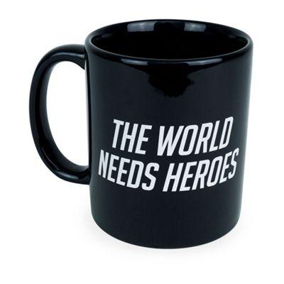 Overwatch The World Needs Heroes Slogan and Logo Ceramic Coffee Mug, Black (ge3213)
