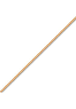 Unisex Solid 9ct Rose Gold Diamond Cut Curb 1mm Gauge Pendant Chain Necklace, 20 inch
