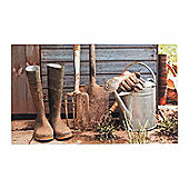 Homescapes Garden Shed Printed 100% Recycled Rubber Non-Slip Doormat