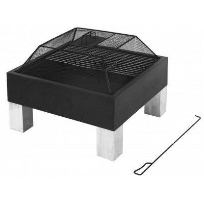Fire Pit and BBQ Grill Combined - Outdoor Heating and Eating