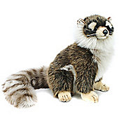 Hansa 24cm Raccoon Sitting Plush Soft Toy