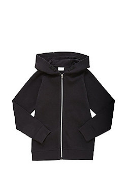 F&F Pique Zip-Through Hoodie - Black