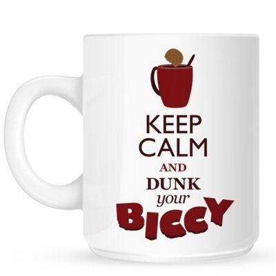Keep Calm and Dunk Your Biccy 10oz Ceramic Mug